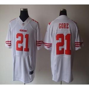 Nike San Francisco 49ers No.21 Frank Gore White Elite Jersey