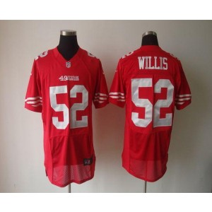 Nike San Francisco 49ers No.52 Patrick Willis Red Elite Jersey
