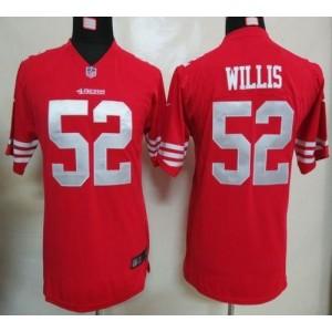 Youth Nike San Francisco 49ers 52 Patrick Willis Red NFL Elite Jersey