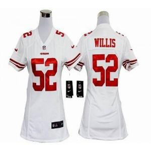 NFL Nike 49ers 52 Patrick Willis White Women's Elite Jersey