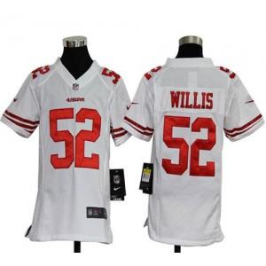 Youth Nike San Francisco 49ers 52 Patrick Willis White NFL Elite Jersey
