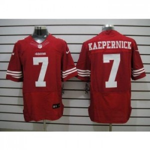 Nike San Francisco 49ers No.7 Colin Kaepernick Red Elite Jersey