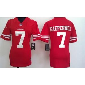 NFL Nike 49ers 7 Colin Kaepernick Red Women's Elite Jersey
