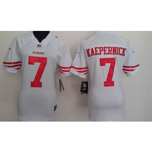 NFL Nike 49ers 7 Colin Kaepernick White Women's Elite Jersey