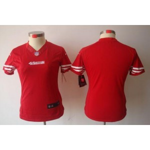 NFL Nike 49ers Blank Red Women's Limited Jersey