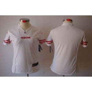 NFL Nike 49ers Blank White Women's Limited Jersey