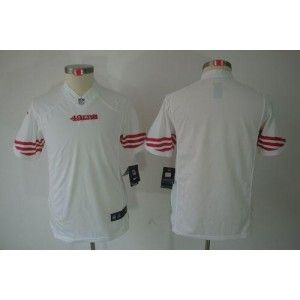 Youth Nike San Francisco 49ers Blank White NFL Limited Jersey