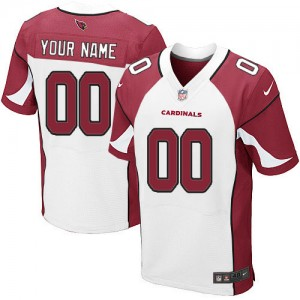 NFL Cardinals White Nike Elite Customized Men Jersey
