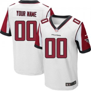 NFL Falcons White Nike Customized Men Jersey