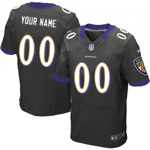 NFL Ravens Black Nike Customized Men Jersey