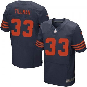 Nike NFL Chicago Bears 33 Charles Tillman Navy Blue 1940s Throwback NFL Elite Football Jersey