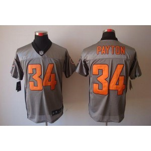 Nike NFL Chicago Bears 34 Walter Payton Grey Shadow NFL Elite Football Jersey