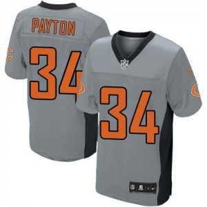 Youth Nike Chicago Bears 34 Walter Payton Grey Shadow NFL Elite Jersey