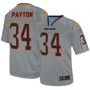 Nike NFL Chicago Bears 34 Walter Payton Lights Out Grey NFL Elite Football Jersey