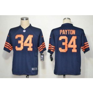Nike NFL Chicago Bears 34 Walter Payton Navy Blue 1940s Throwback NFL Game Football Jersey