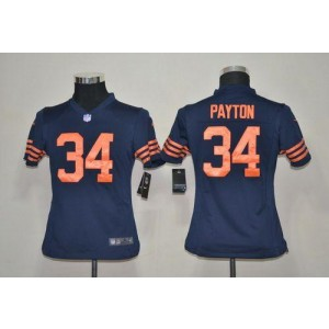 Youth Nike Chicago Bears 34 Walter Payton Navy Blue 1940s Throwback NFL Elite Jersey