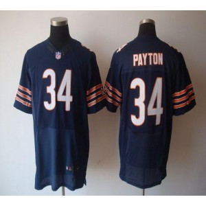 Nike NFL Chicago Bears 34 Walter Payton Navy Blue NFL Elite Football Jersey