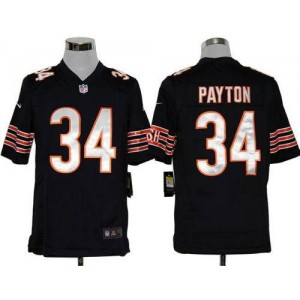 Nike NFL Chicago Bears 34 Walter Payton Navy Blue NFL Game Football Jersey