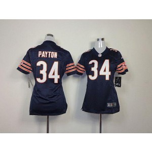 NFL Nike Chicago Bears 34 Walter Payton Navy Blue Women's Elite Jersey