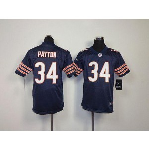 Youth Nike Chicago Bears 34 Walter Payton Navy Blue NFL Elite Jersey