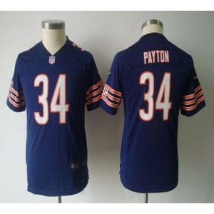 Youth Nike Chicago Bears 34 Walter Payton Navy Blue NFL Game Jersey