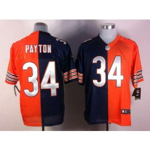 Nike NFL Chicago Bears 34 Walter Payton Navy Blue Orange NFL Elite Split Football Jersey