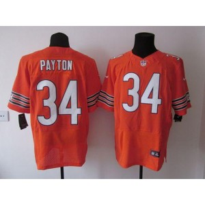 Nike NFL Chicago Bears 34 Walter Payton Orange NFL Elite Football Jersey