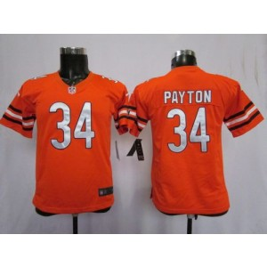 Youth Nike Chicago Bears 34 Walter Payton Orange NFL Elite Jersey