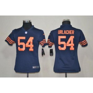 Youth Nike Chicago Bears 54 Brian Urlacher Navy Blue 1940s Throwback NFL Elite Jersey