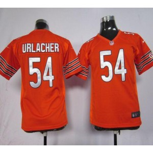 Youth Nike Chicago Bears 54 Brian Urlacher Orange NFL Elite Jersey