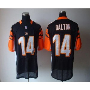 Nike Cincinnati Bengals No.14 Andy Dalton Black Elite Football Jersey