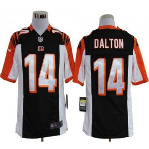 Nike Cincinnati Bengals No.14 Andy Dalton Black Game Football Jersey