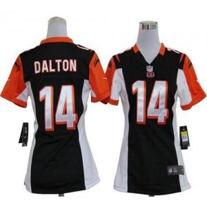 NFL Nike Bengals 14 Andy Dalton Black Women's Elite Jersey
