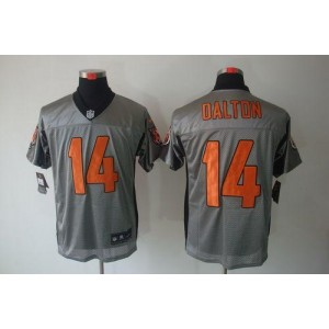 Nike Cincinnati Bengals No.14 Andy Dalton Grey Shadow Elite Football Jersey