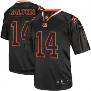 Nike Cincinnati Bengals No.14 Andy Dalton Lights Out Black Elite Football Jersey