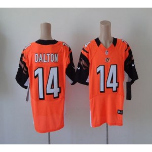 Nike Cincinnati Bengals No.14 Andy Dalton Orange Elite Football Jersey