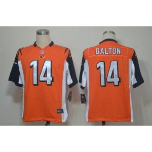 Nike Cincinnati Bengals No.14 Andy Dalton Orange Game Football Jersey