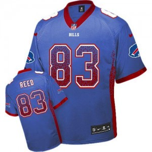 Nike Bills No.83 Andre Reed Royal Blue Team Color Men's Stitched NFL Elite Drift Fashion Jersey