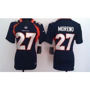 NFL Nike Broncos 27 Knowshon Moreno Blue Women's Elite Jersey