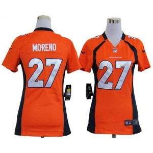 NFL Nike Broncos 27 Knowshon Moreno Orange Women's Elite Jersey