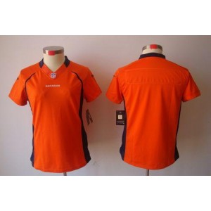 NFL Nike Broncos Blank Orange Women's Limited Jersey