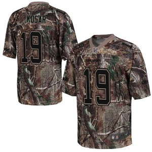 Nike Cleveland Browns No.19 Bernie Kosar Camo Realtree Elite Football Jerseys