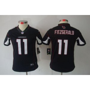 Nike Arizona Cardinals No.11 Larry Fitzgerald Black Women's Jersey