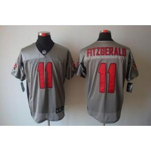 Nike Arizona Cardinals No.11 Larry Fitzgerald Grey Shadow Elite Football Jersey