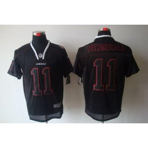 Nike Arizona Cardinals No.11 Larry Fitzgerald Lights Out Black Elite Football Jersey