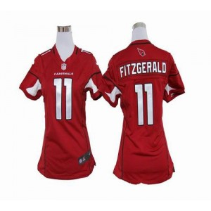 Nike Arizona Cardinals No.11 Larry Fitzgerald Red Women's Elite Jersey