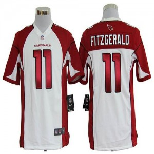 Nike Arizona Cardinals No.11 Larry Fitzgerald White Game Football Jersey