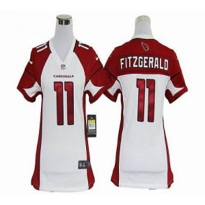 Nike Arizona Cardinals No.11 Larry Fitzgerald White Women's Elite Jersey