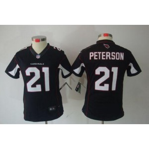 Nike Arizona Cardinals 21 Patrick Peterson Black Women's Jersey