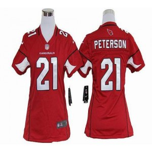 Nike Arizona Cardinals No.21 Patrick Peterson Red Women's Elite Jersey